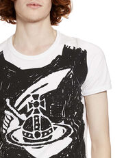 Classic Organic Scribble Arm & Cutlass T-Shirt White