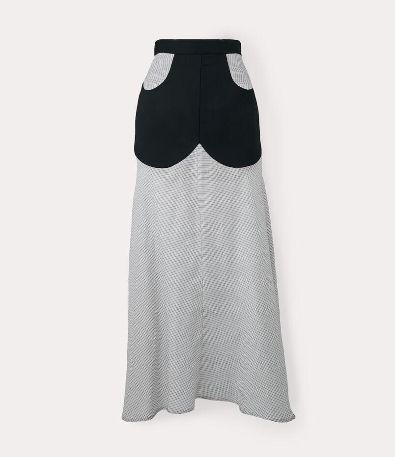 Albertine Skirt White/Black