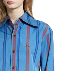 Cropped Pianist Shirt Blue