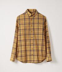 Two Button Krall Shirt Yellow Tartan