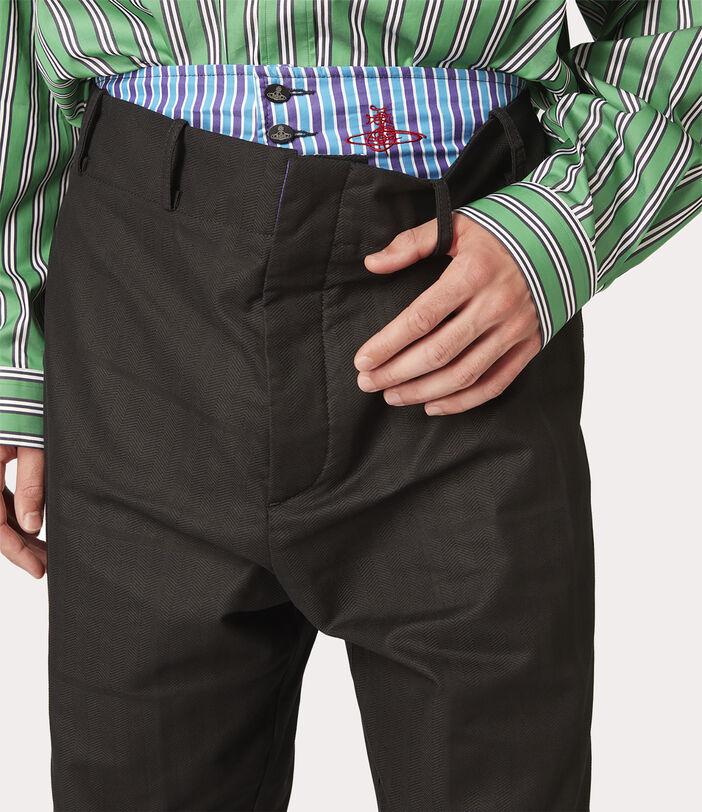 Alien Trousers Black Check Herringbone 9