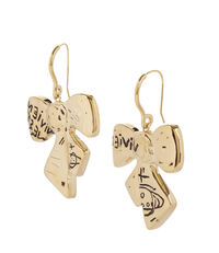 Arabella Bow Drop Earrings Gold Plated