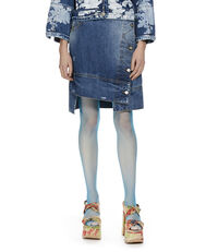 Ripped Liz Skirt Blue Denim