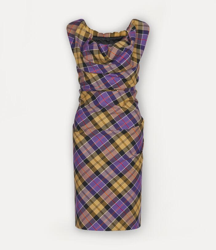 Mini Ginnie Pencil Dress Tartan 1