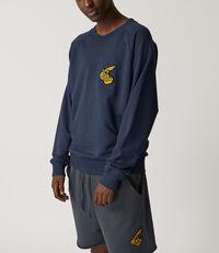 Classic Sweatshirt with Badge Navy