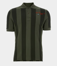 New Polo S/S Dark Green Stripes