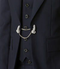Pave Penis Waistcoat Chain Crystal