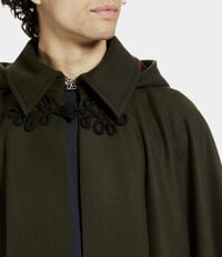 Hooded Cape Invisible Green