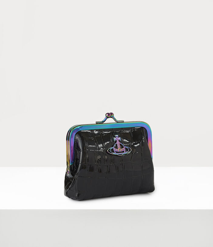 Archive Orb Frame Coin Purse Black/Iridescent 2