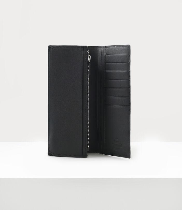 Kent Long Wallet With Zip Black 3