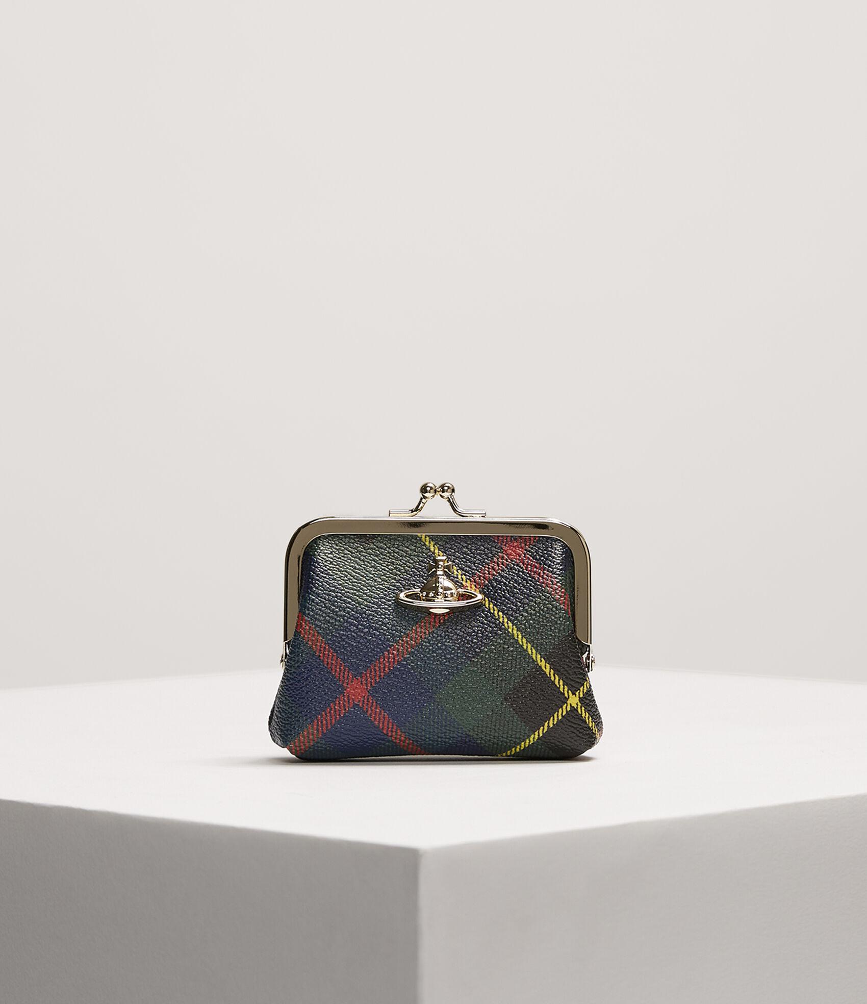 Vivienne Westwood Women's Designer Wallets and Purses | Vivienne Westwood -  Derby Frame Coin Purse Hunting Tartan