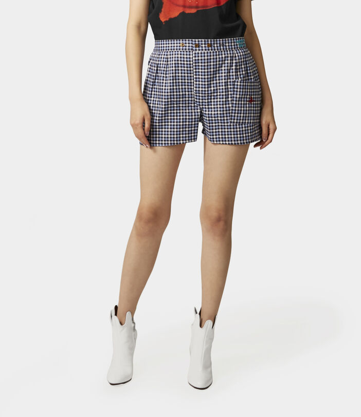 We Boxer Shorts Blue Gingham 7