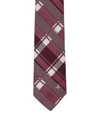 Check Jacquard Tie Red