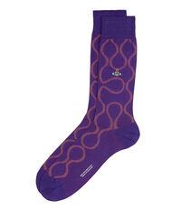 Squiggle Socks Crocus