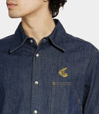 Lars Workman Shirt Blue Denim