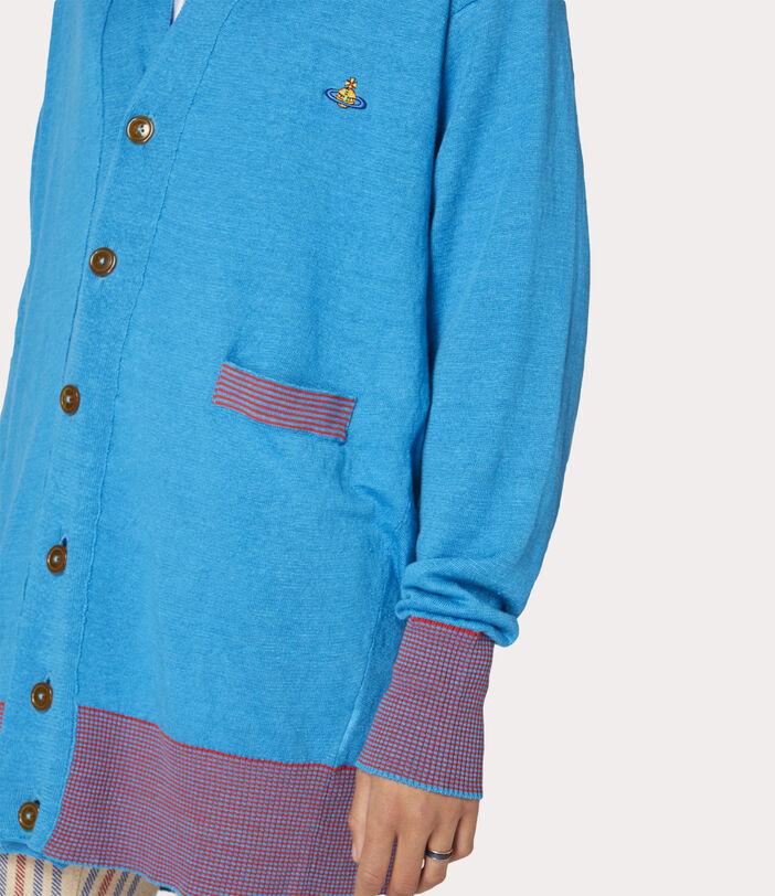 Polo Cardigan Turquoise 8