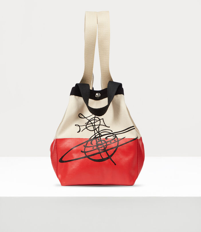 Worker Small Runner Holdall Red/Beige 8