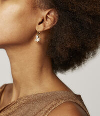 Valentina Drop Earrings Golden Tone