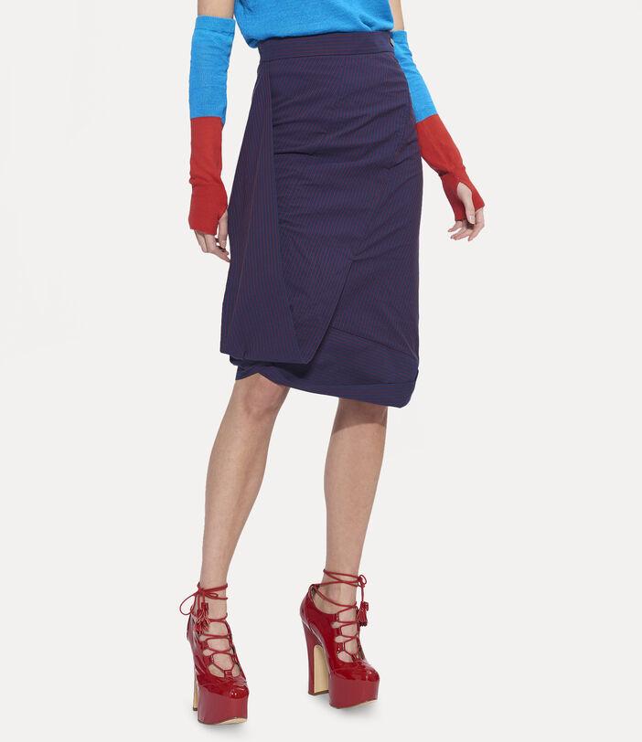 Amnesia Midi Skirt Navy 4