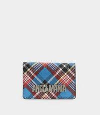 Shuka Tartan Small Credit Card Blue