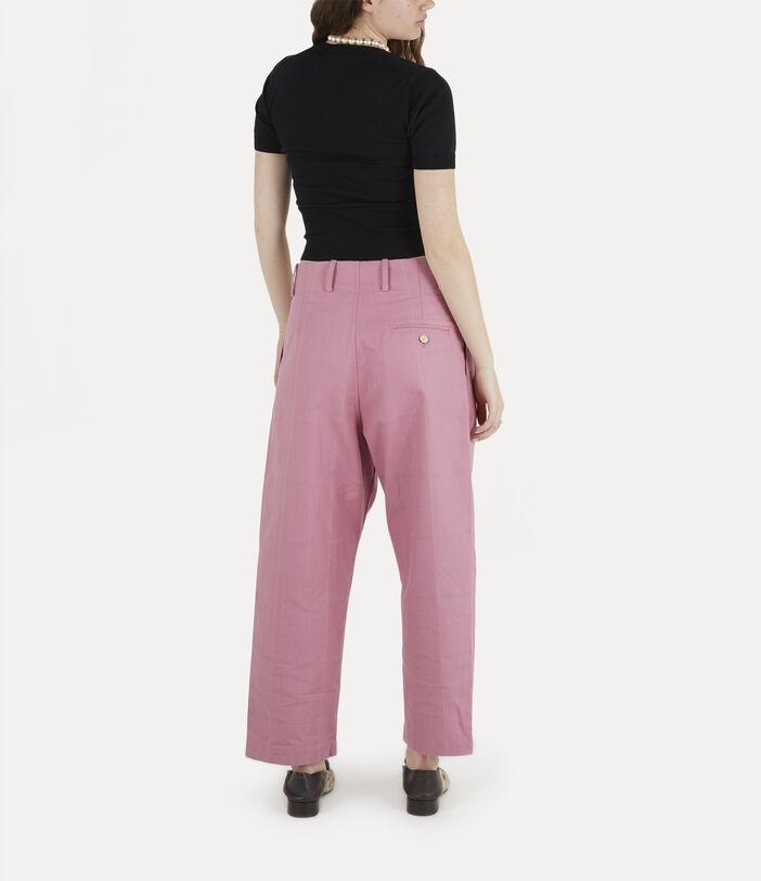 Alien Trousers Pink Check Herringbone 4