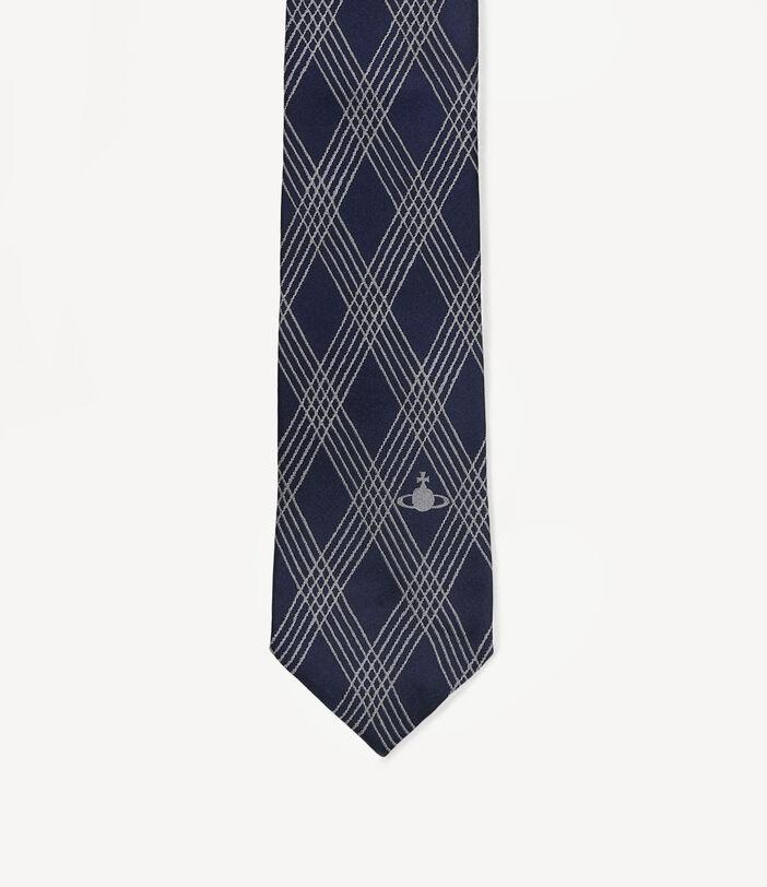 Tartan Tie Navy Blue 7CM 3
