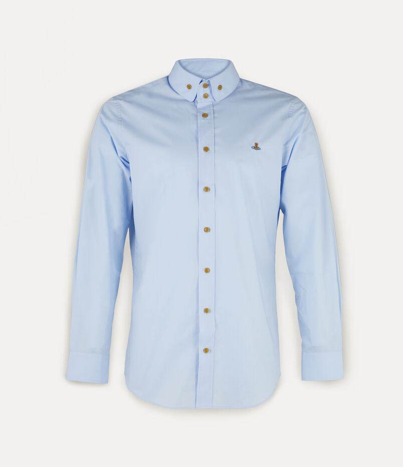 Vivienne Westwood Two Button Krall Shirt Light Blue