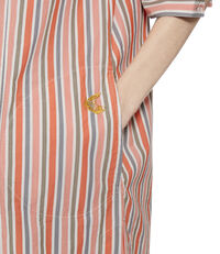 Striped Heart Dress Orange