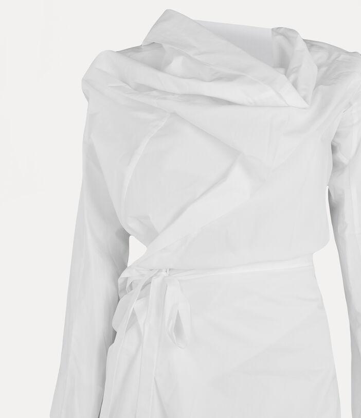 Long-Sleeve Cliff Dress White 3
