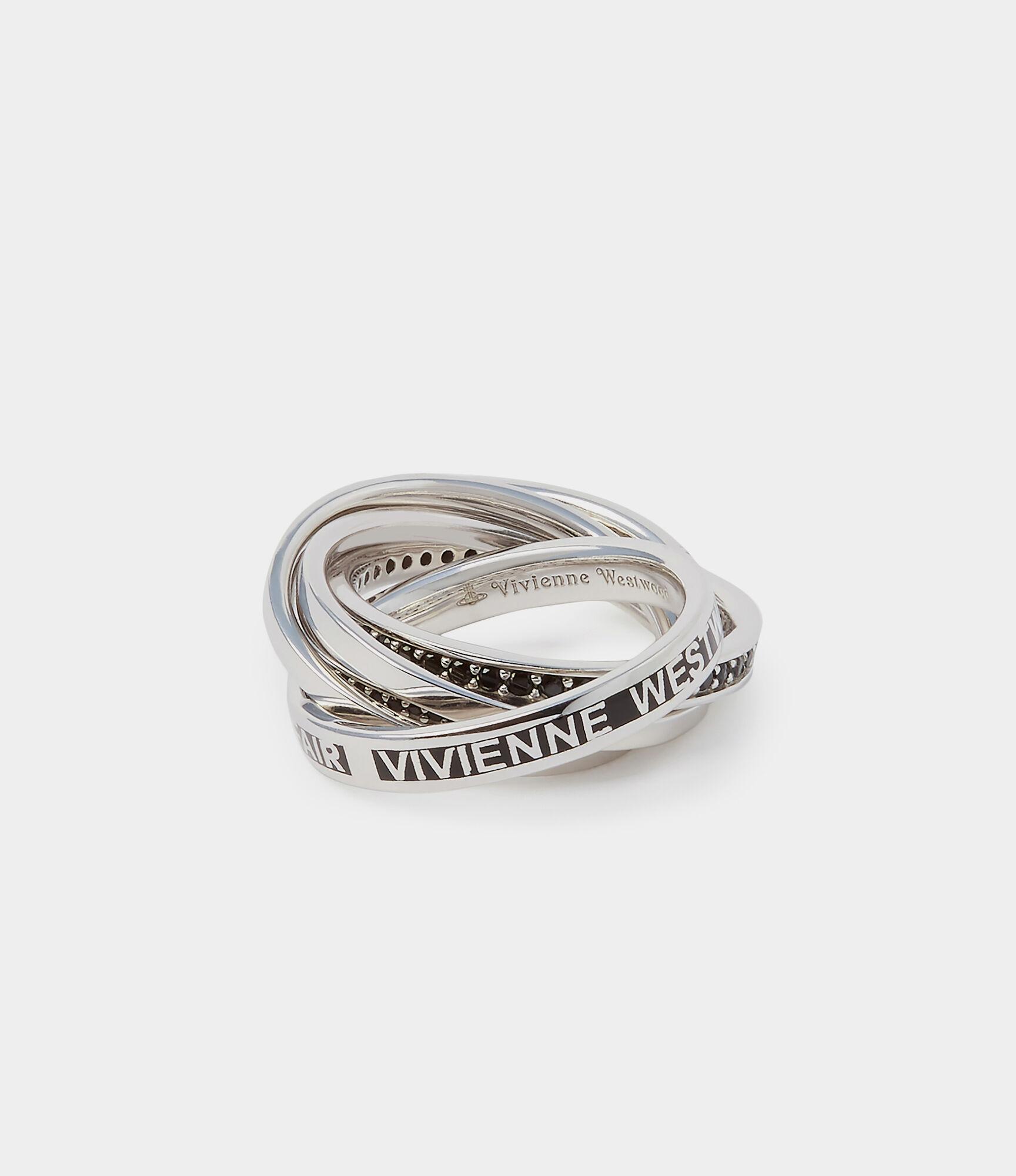 Sterling Silver Dustin Ring Black