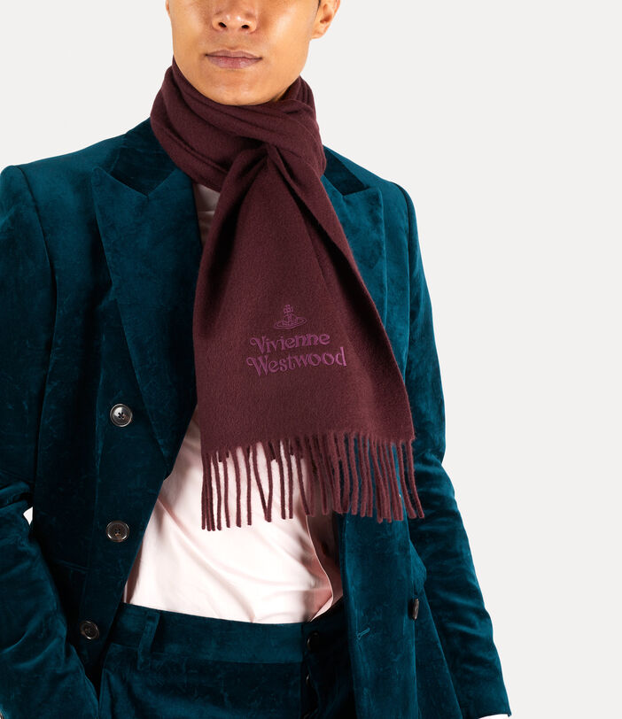 Embroidered Lambswool Scarf 3