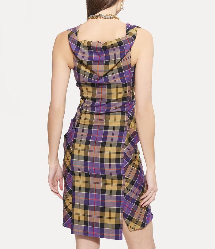 Mini Ginnie Pencil Dress Tartan 4