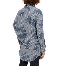 Chaos Shirt Rose Stripe Print