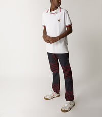 Squiggle Polo Shirt White