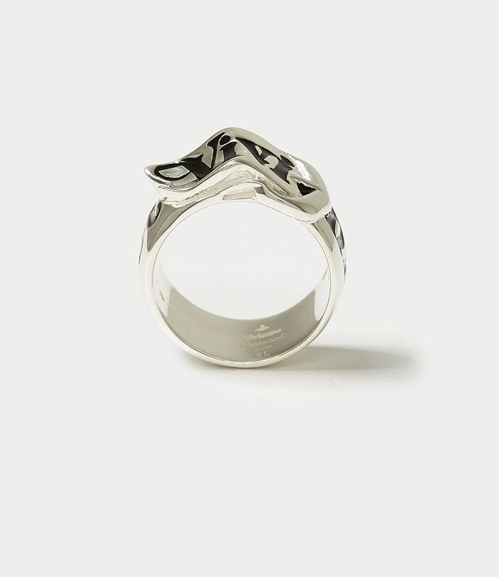 Belt Ring Silver-Tone 3