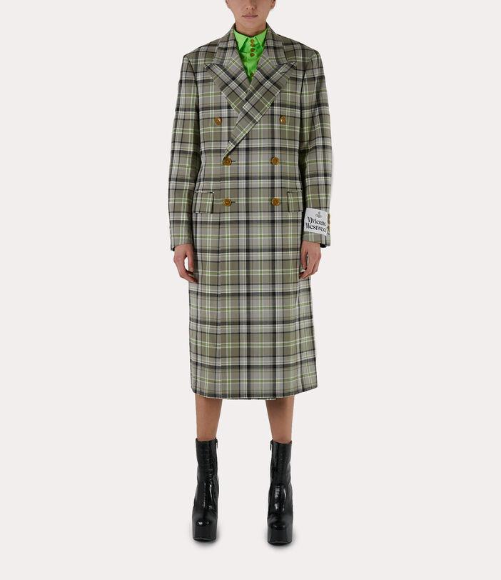 39 Steps Coat Green/Beige 2