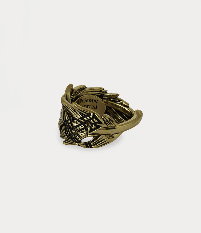 Eugenio Ring Antique Gold-Tone 2