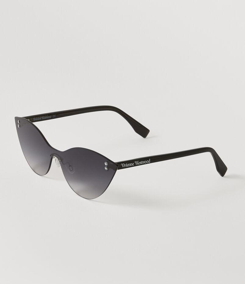 6568b7b0024af Frameless Cat-Eye Sunglasses Silver Grey
