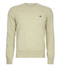 Roundneck Jumper Cream/Grey Melange