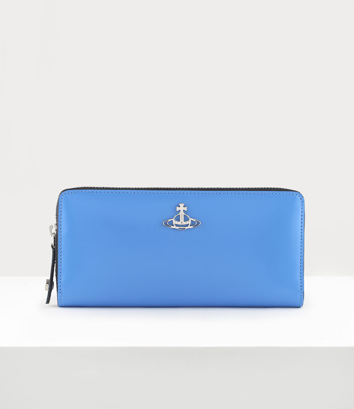 Alice Zip Round Wallet Blue 1