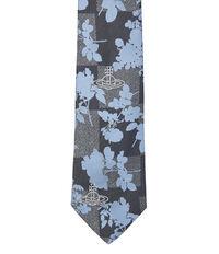 Foliage Jacquard Tie Grey