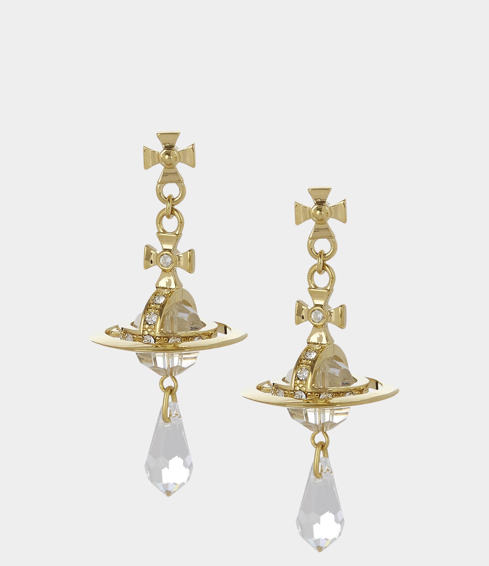 7536a4f49 Crystal Orb Earrings Gold Plated   Women's Earrings   Vivienne ...