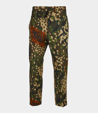 Cropped James Bond Trousers Camouflage Print