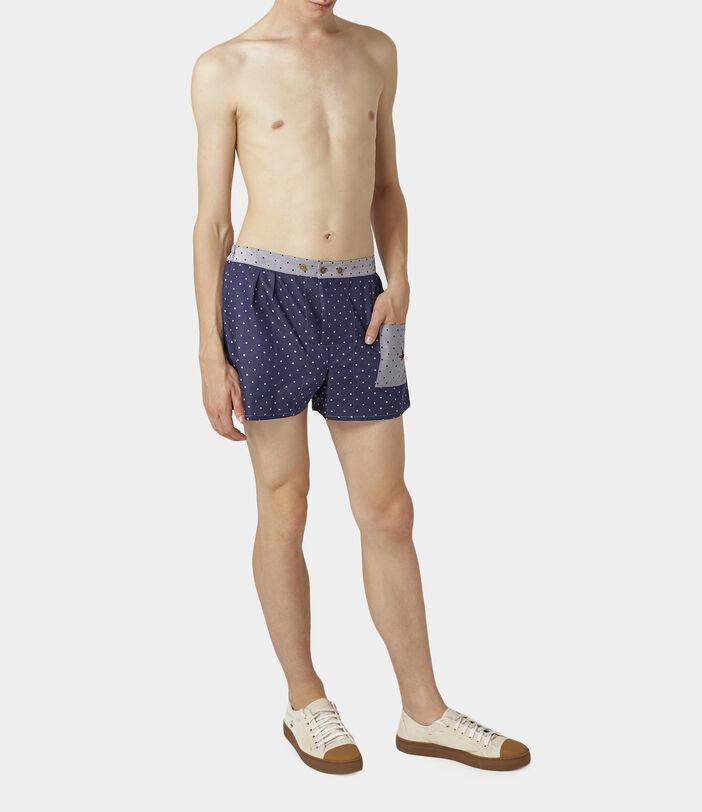 We Boxer Shorts Navy/Silver Dots 2