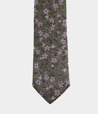 Floral Jacquard Tie Taupe