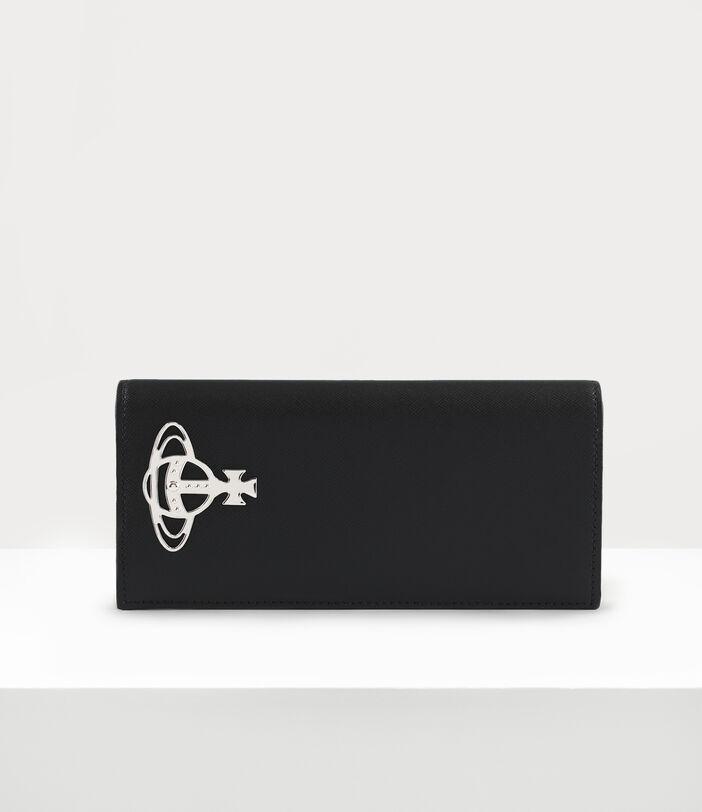 Kent Long Wallet With Zip Black 1