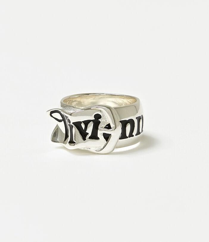 Belt Ring Silver-Tone 1
