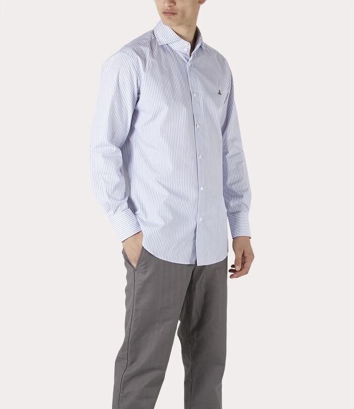 New Cutaway Shirt Blue Stripe 3