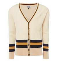 Striped Knit Cardigan Cream