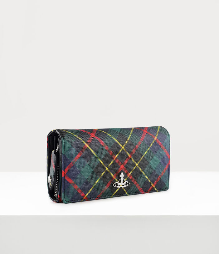Derby Classic Long Wallet Hunting Tartan 2